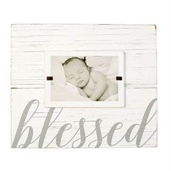 blessed Wood Frame photo frame,baby frame, tiny miracle frame, baby gift, baptism gift, christening gift, 4695383