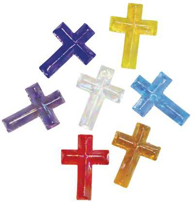 "Assorted 1"" Glass Crosses"
