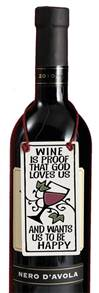 Wine is Proof God Loves Us.. Ceramic Wine Tag *WHILE SUPPLIES LAST*