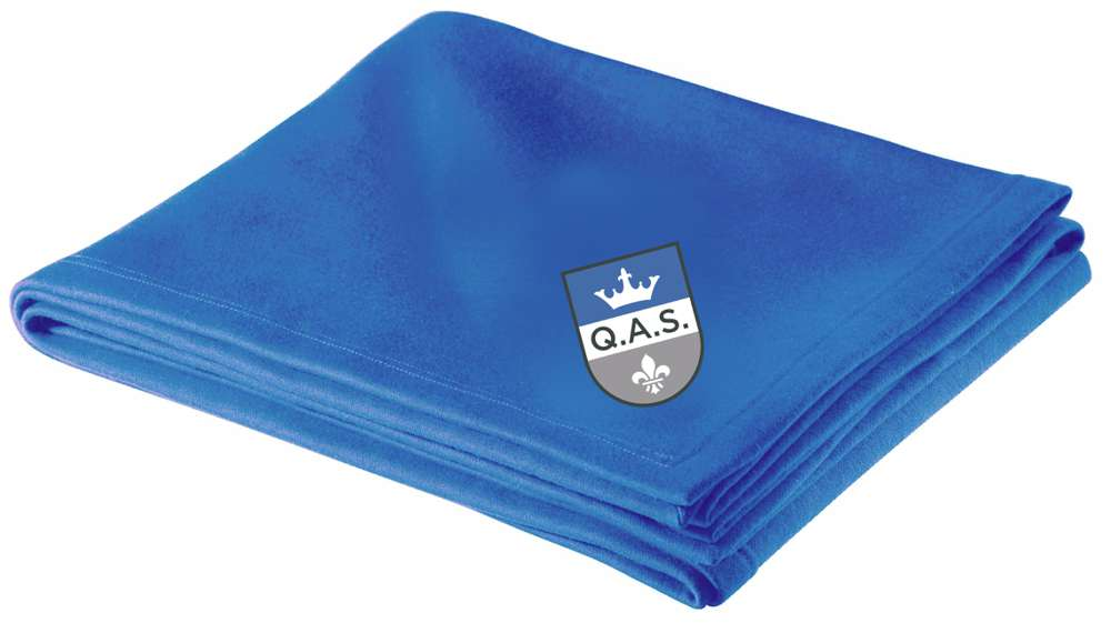 QAS Logo Stadium Blanket, Blue