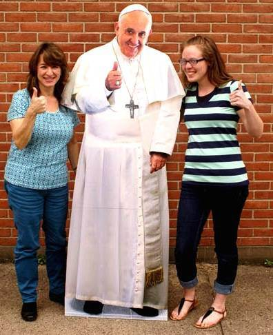 "Pope Francis Standing Cut-Out for Selfies ""Thumbs Up"" PAPAL SELFIE, POPE FRANCIS SELFIE, POPE FRANCIS STAND UP, PAPAL STAND UP, PAPAL STANDEE, POPE FRANCIS STANDEE, STEE-1857, PAPAL PHOTO OP, POPE FRANCIS PHOTO OP"