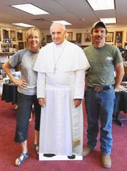 Pope Francis Standing Cut-Out for Selfies