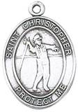 St. Christopher Sports Medal-Fishing