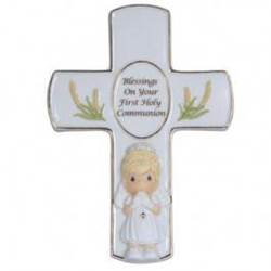 Precious Moments Blessings on Your First Holy Communion Cross