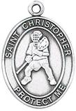 St. Christopher Sports Medal-Lacrosse