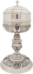2-0202 Standing Ciboria - Silver Plate with Enamels