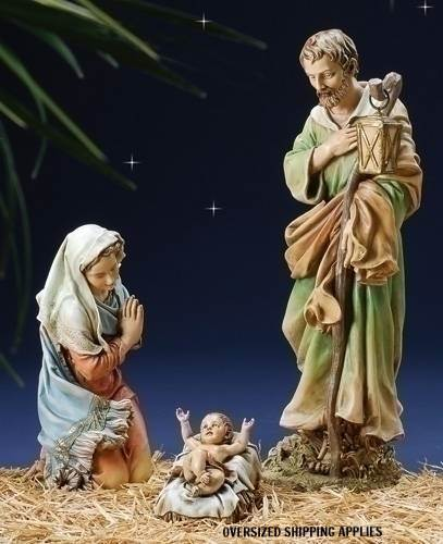 "27"" Scale Holy Family Figure Set JS27, holy family figurine, holy family, holy family figurine, home decor, christmas decor, nativity decor, christmas gift, indoor nativity, outdoor nativity, 39530"