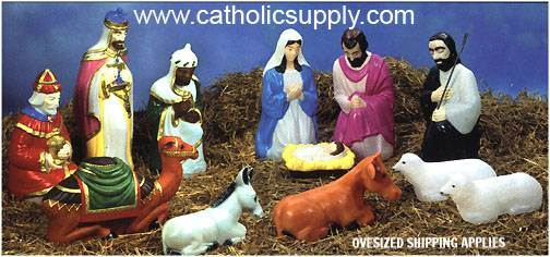 "28"" Scale Full Color 12 Piece Lighted Outdoor Nativity Set  GF29, outdoor nativity, indoor nativity, color nativity, christmas gift, christmas decor, yard decor, church gift, church items, lighted nativity, 57040"