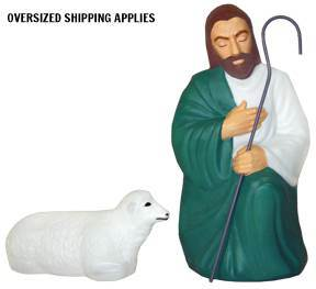 "28"" Scale Lighted Outdoor Shepherd  GF29, outdoor nativity, indoor nativity, color nativity, christmas gift, christmas decor, yard decor, church gift, church items, shepherd, sheep,  lighted nativity, 57058"