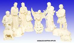 "29"" Scale Off-White 13 Piece Nativity Set  holy family, outdoor nativity, indoor nativity, off white nativity, christmas gift, christmas decor, yard decor, church gift, church items, nativity 53395"