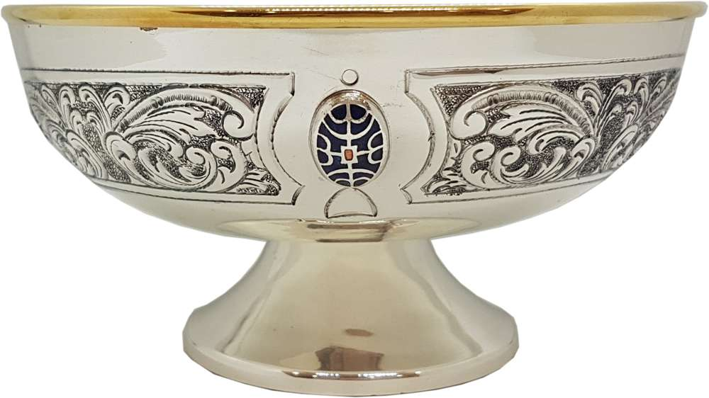 3-0202 Silver Open Ciboria with Enamel