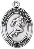 St. Christopher Sports Medal-Football