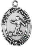 St. Christopher Sports Medal-Soccer