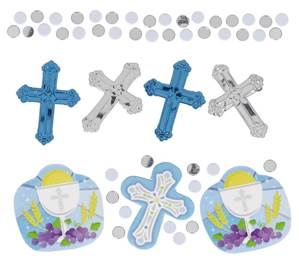 Communion Confetti Pack Blue