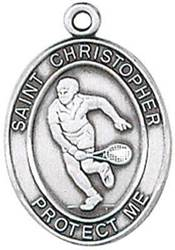 St. Christopher Sports Medal-Tennis silver necklace, st. christopher necklace, sports necklace, girl necklace, boy necklace, athlete gift,  first communion gift, reconciliation gift, sacramental gift, sport gift, tennis gift, tennis medal