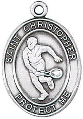 St. Christopher Sports Medal-Tennis