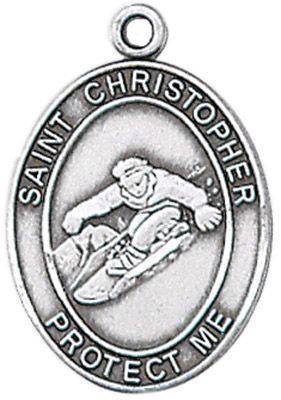 St. Christopher Sports Medal-Snowboarding
