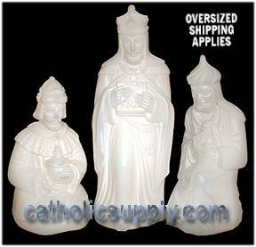 "28"" Scale Lighted White Pearl Three Wisemen holy family, outdoor nativity, lighted yard decor, lighted nativity, christmas gift, christmas decor, yard decor, church gift, church items, three kings, wisemen,, 34587"
