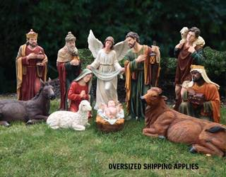 "39"" Large Scale Fiberglass Nativity Set"