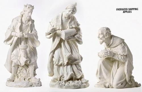 "39"" Scale Three Kings  js39, nativity set, nativity 3 kings, wisemen, christmas nativity, christmas figures, joseph studio, resin stone mix, oversized figures, 38020"