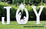 "43"" Marine Grade Outdoor ""JOY"" with Holy Family Silhouette"