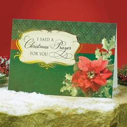 """I Said a Christmas Prayer"" Cards christmas cards, box cards, holy  cards, 77138T, holiday cards"