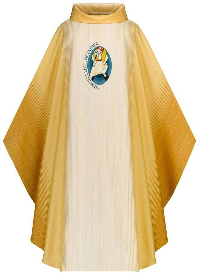5210 Holy Year of Mercy Chasuble/White and Gold