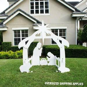 "72"" Outdoor Nativity Silhouette"