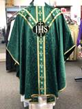 101-0931 Green IHS with Vesica Chasuble by Arte Grosse