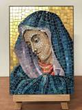 Madonna Micro Mosaic Panel - Made in Italy Madonna, Micro Mosaic, Panel, Made in Italy, stagi, art, wall art, priest gift, pastor gift