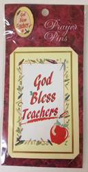 God Bless Teachers Prayercard & Lapel Pin Set