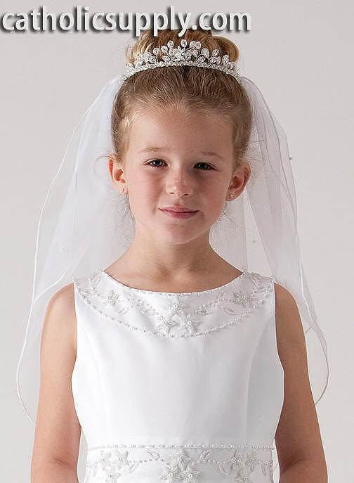 Tiara First Communion Veil