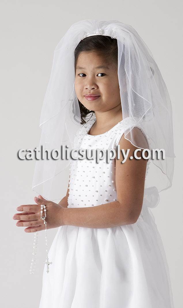 Headband First Communion Veil