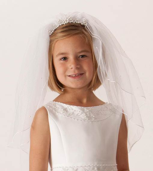 Pearl Tiara Face Framer First Communion Veil