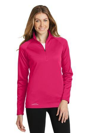 Custom Eddie Bauer Ladies 1/2-Zip Base Layer Fleece