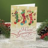 Graphic Stockings Boxed Christmas Cards