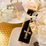 Gold Metal Cross with Intricate Intertwined Design