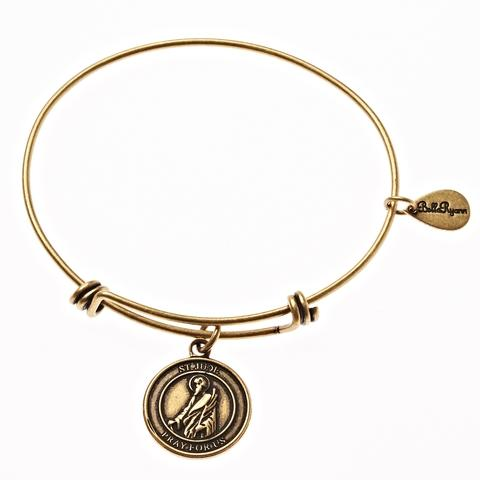 Gold St. Jude Bangle Bracelet