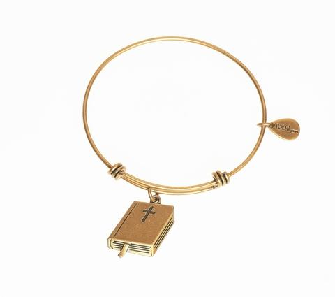 Gold Holy Bible Bangle Bracelet