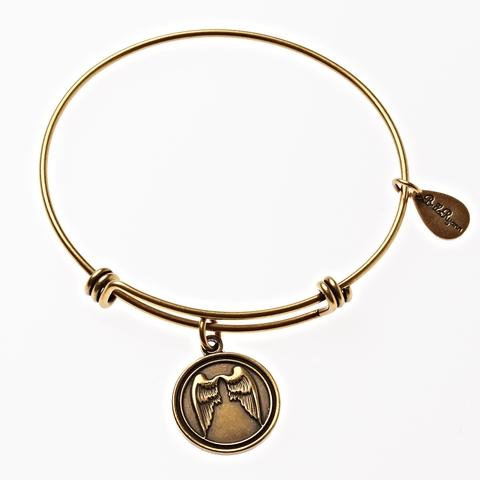 Gold angel Wings Bangle Bracelet