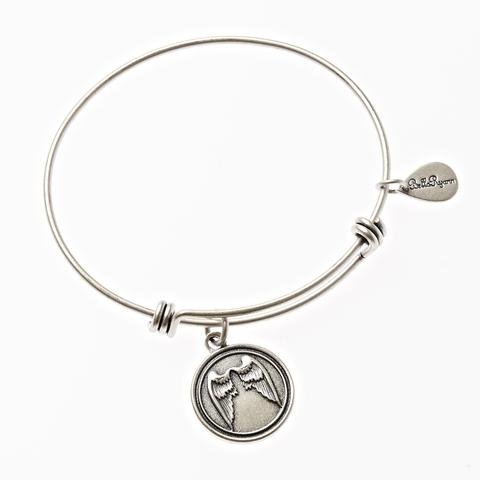 Silver Angel Wings Bangle Bracelet