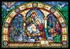 Stain Glass Nativity Advent Calendar with Glitter