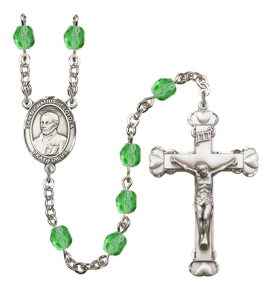 St. Ignatius of Loyola Patron Saint Rosary, Scalloped Crucifix