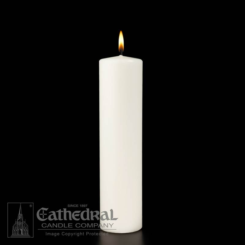 White Ceremonial Pillar Candle