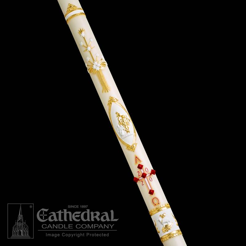 Ornamented Paschal Candle Paschal Candle, Easter Candle, Paschal, Easter, Cathedral Candle,Ornamented, Beeswax, candle, Beeswax candle, Easter Vigil,80102001,80103001,80103501,80104001,80104201,80105201,80104501,80105001,80106001,80107001,80108001,80106501,80108501,80110001,80109001,80111001,80115001,80120001
