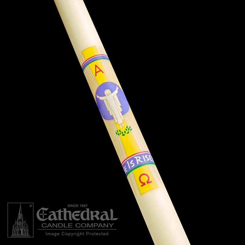 He is Risen Paschal Candle Paschal Candle, Easter Candle, Paschal, Easter, Cathedral Candle, He is Risen, Beeswax, candle, Beeswax candle, Easter Vigil,80302001,80303001,80303501,80304001,80304201,80305201,80304501,80305001,80306001,80307001,80308001,80306501,80308501,80310001,80309001,80311001,80315001,80320001