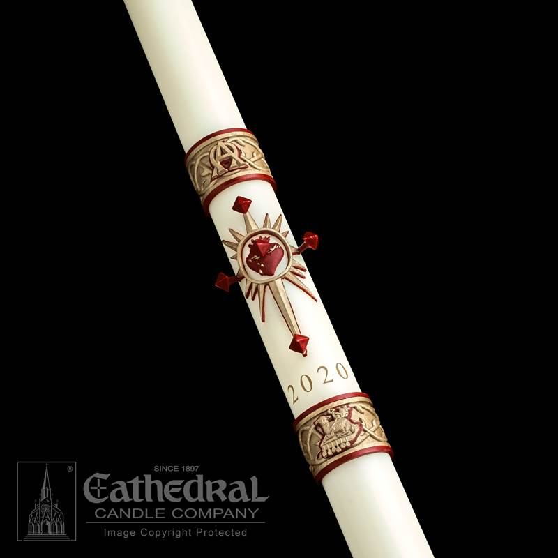 Sacred Heart™ Paschal Candle Paschal Candle, Easter Candle, Paschal, Easter, Cathedral Candle,Sculptwax, Sacred Heart, Beeswax, candle, Beeswax candle, Easter Vigil,80863020,80863030,80863035,80863040,80863042,80863052,80863045,80863050,80863060,80863070,80863080,80863065,80863085,80863100,80863090,80863110,80863150,80863200