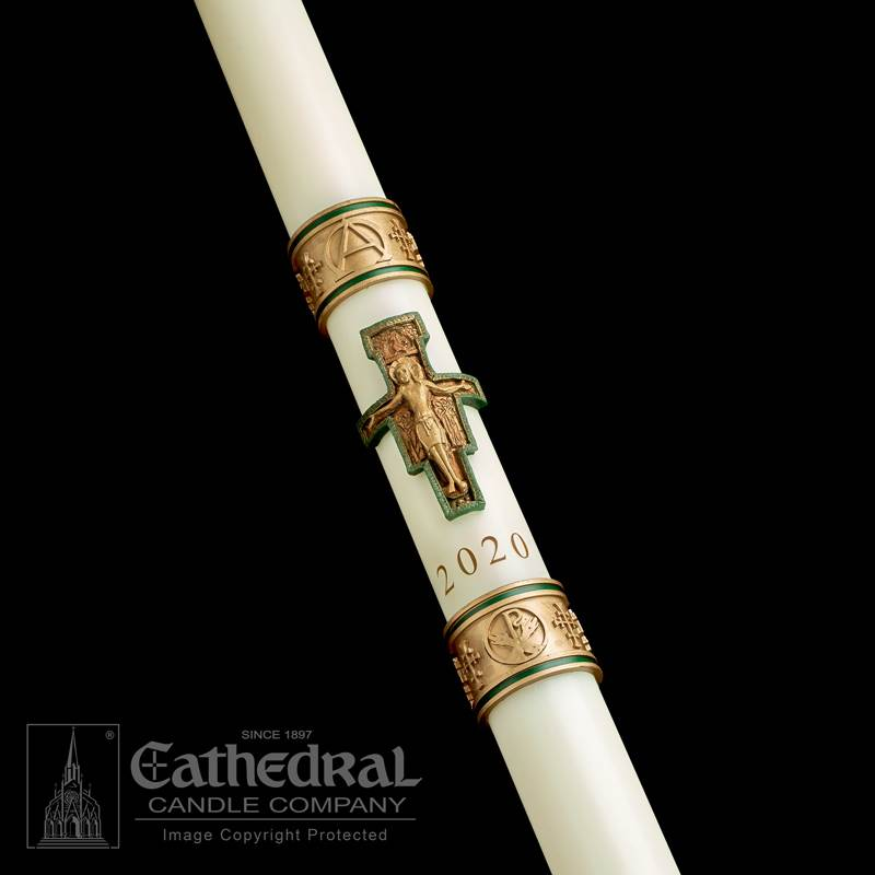 Cross of St. Francis™ Paschal Candle Paschal Candle, Easter Candle, Paschal, Easter, Cathedral Candle,Sculptwax, Cross of St. Francis, Beeswax, candle, Beeswax candle, Easter Vigil,80865020,80865030,80865035,80865040,80865042,80865052,80865045,80865050,80865060,80865070,80865080,80865065,80865085,80865100,80865090,80865110,80865150,80865200