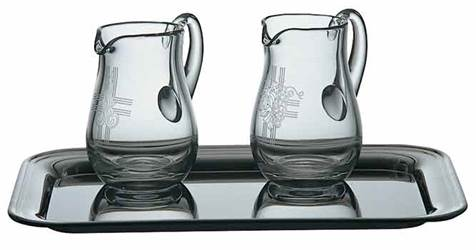 K1262 Engraved Crystal Cruet Set