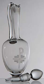 K1268 Engraved Crystal Flagon
